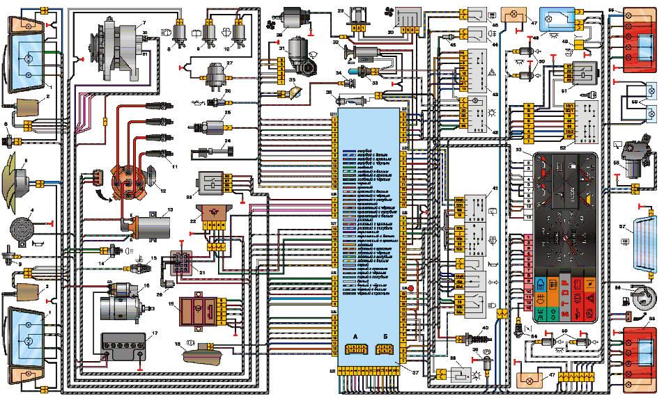 Ваз 2108 схема проводка