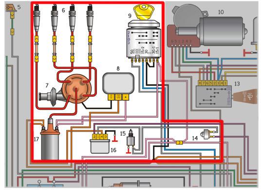электросхема волга 105