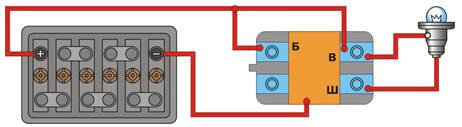 Схема проверки интегрального регулятора напряжения
